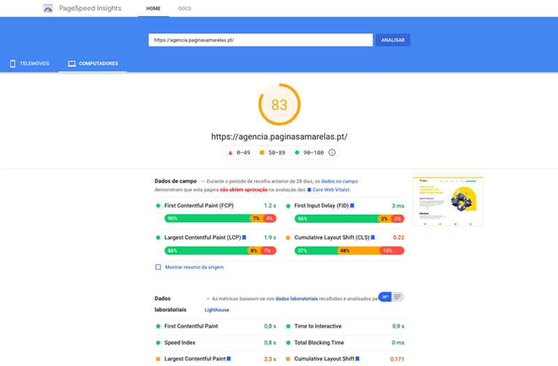 Google PageSpeed Insights - Report