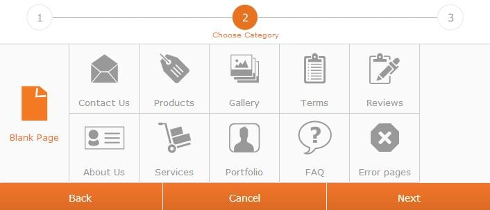 page categories