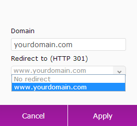 add naked domain