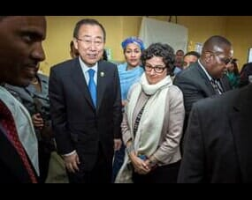 Secretary General Ban Ki-moon with Mrs
