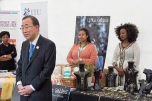 Secretary General Ban Ki-moon making a short speech to the invited guests
