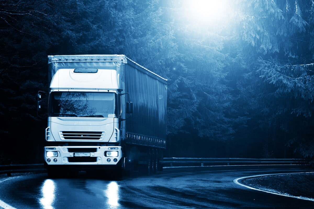 camion bianco notte