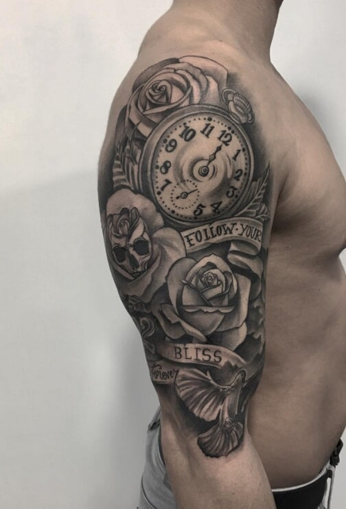 tattoo black grey porto