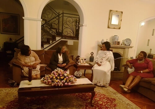 The Delegation Members at Negist Ethiopia, Joined by the Owner Mrs. Aster at her Residence