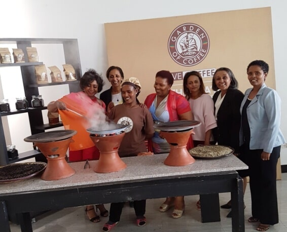 The South African Delegation during the Visit at Garden of Coffee Joined by the Owner, Betlehelem