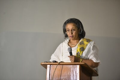 Executive Director of CAWEE Delivering her Remarks