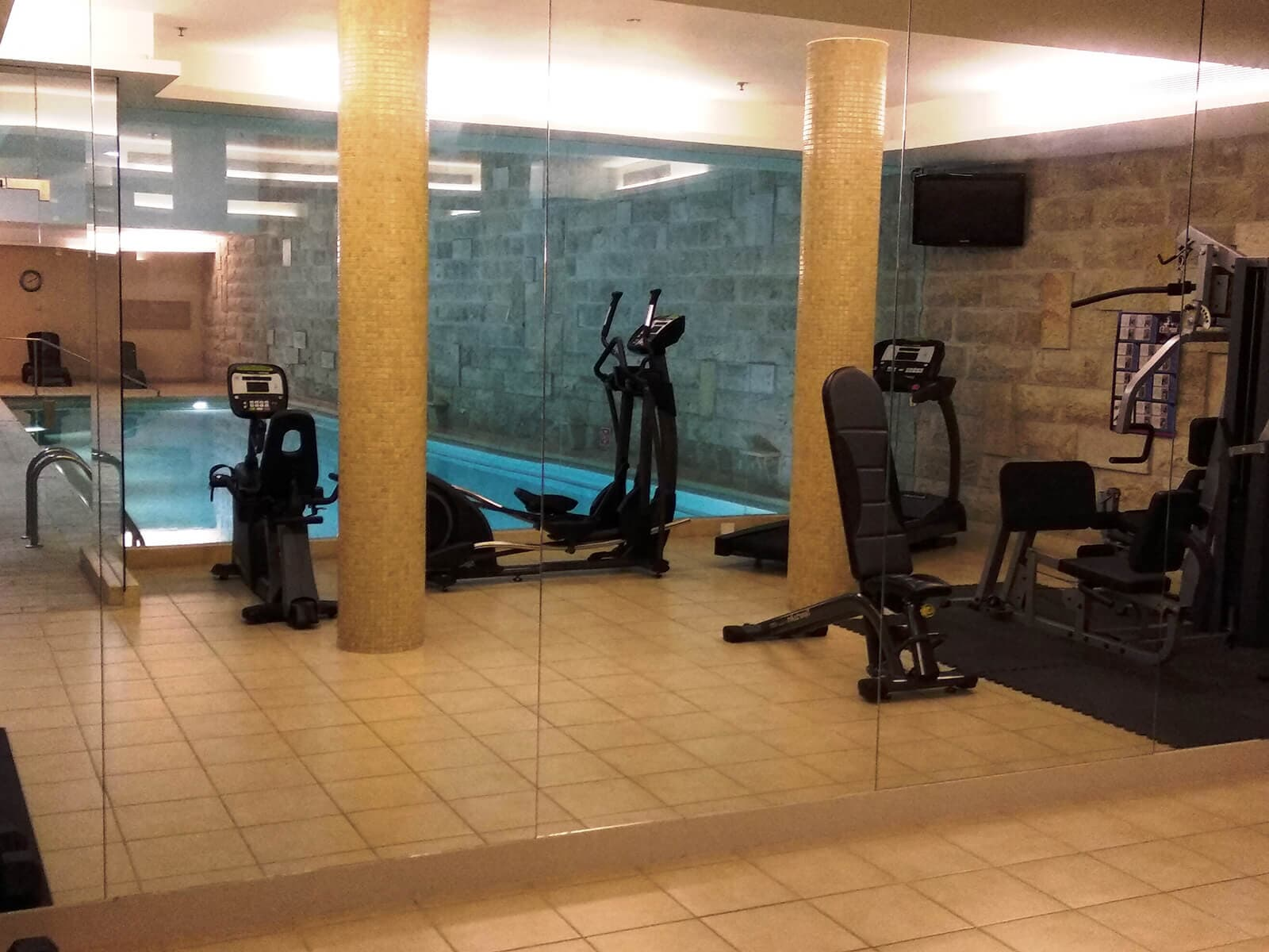 FITNESS ROOM and POOLS