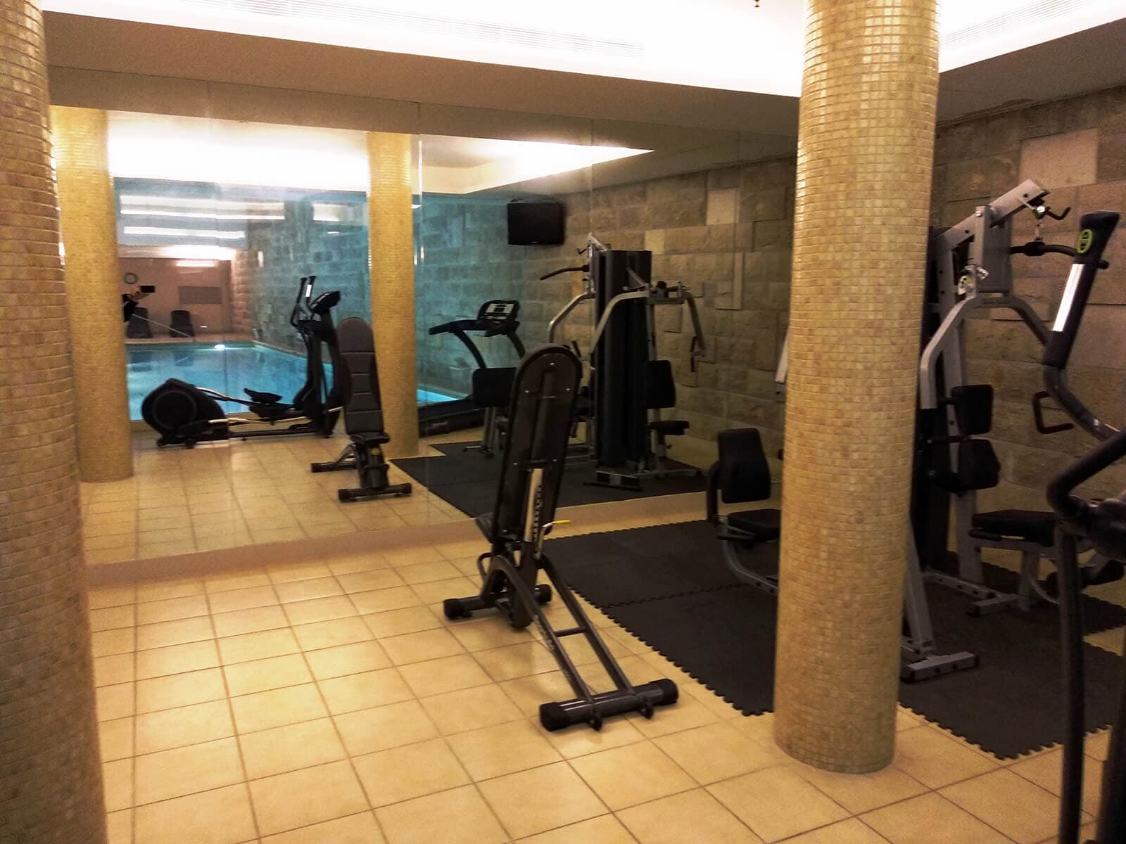 Gym and fitness rooms