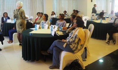Ms. Lisbet Finch during the training facilitation