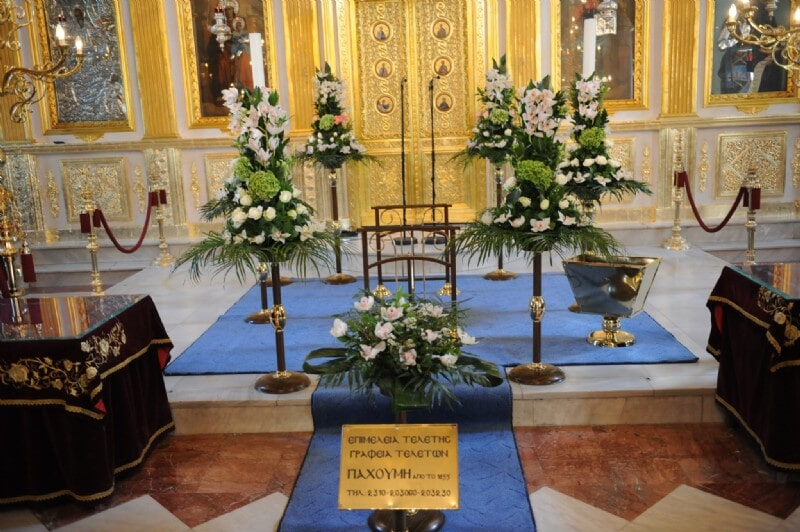 Decorations by PACHOUMIS Funeral Home in Thessaloniki