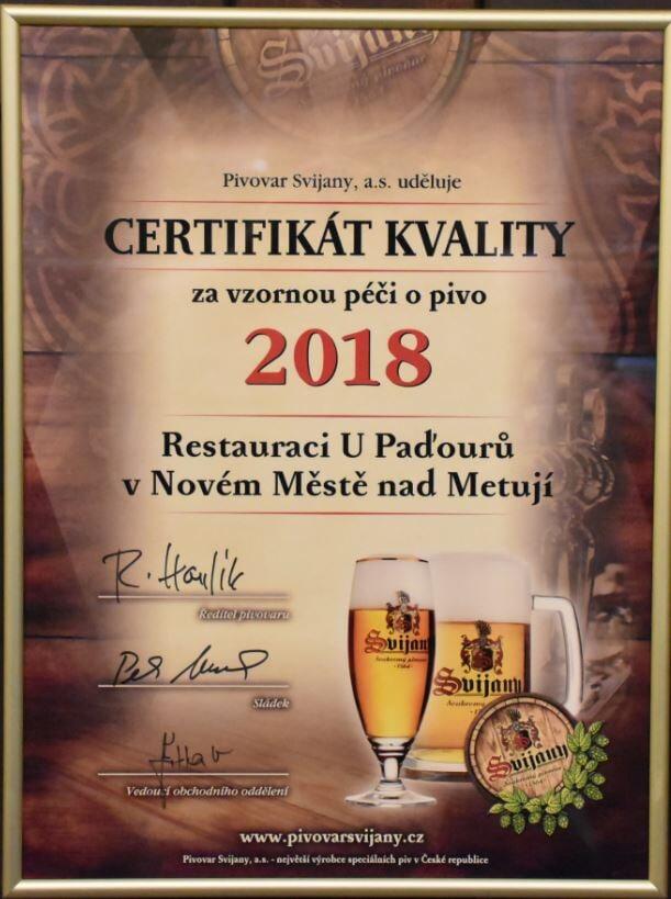 Restaurace U Paďourů Nové Město nad Metují