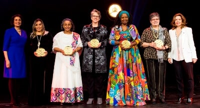 Nigest, 3rd from the Left, among the Rest of the 'Women Stop Hunger Awardees'                                  Accompanied by Officials from Stop Hunger