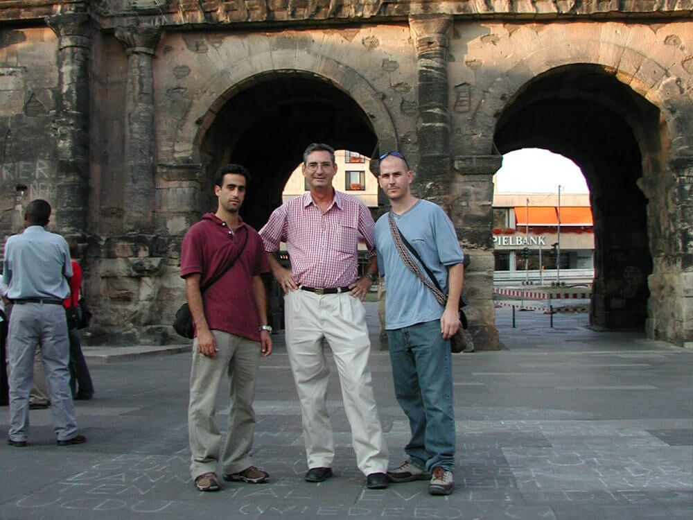 Alon, Arnon, and Augustin (left to right) in Trier, Germany