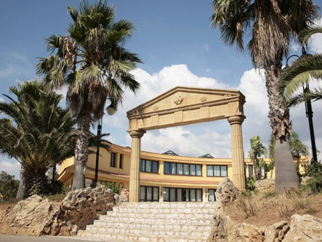 Hotel entrance to the Oasis of Selinunte