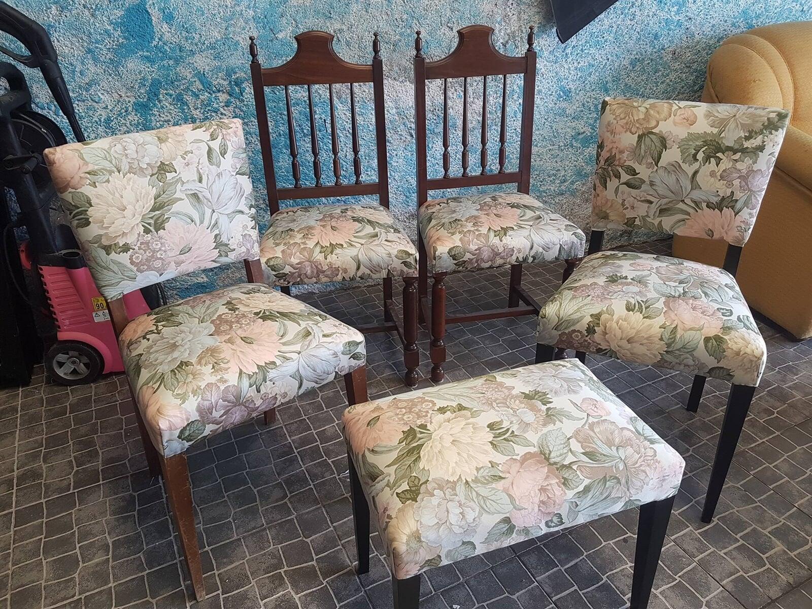 Estofos cadeiras