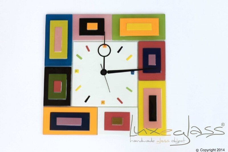 CLOCK COLOURFUL 40CMx40CM 30CMx30CM