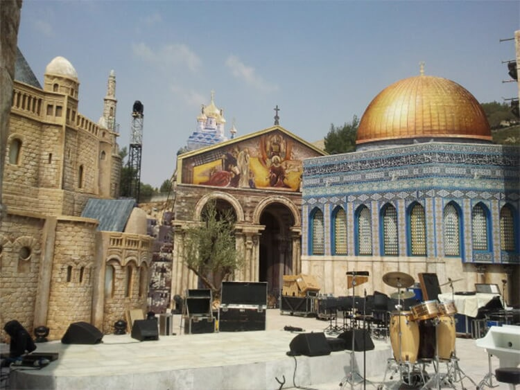 Set for a concert by Roberto Carlos-Israel C