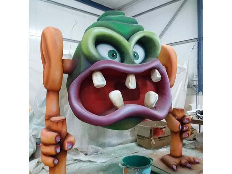 Sculpting giant monsters for a museum exhibition