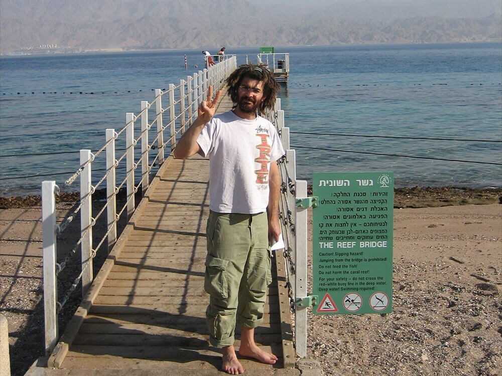 Tamir exploring the coral reef in Eilat