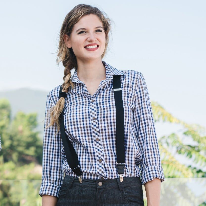 Giblors-camicia-lilly-marrone