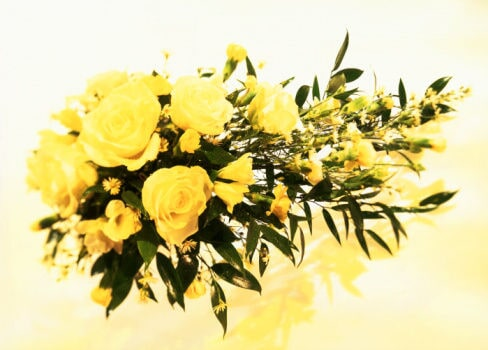 Floral arrangements for funeral services