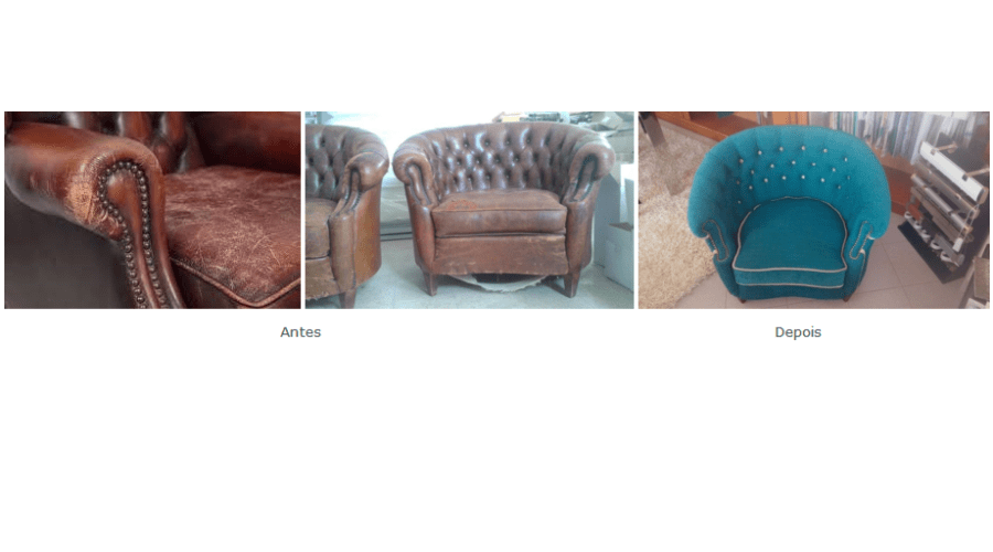 Upholstery restoration - before and after