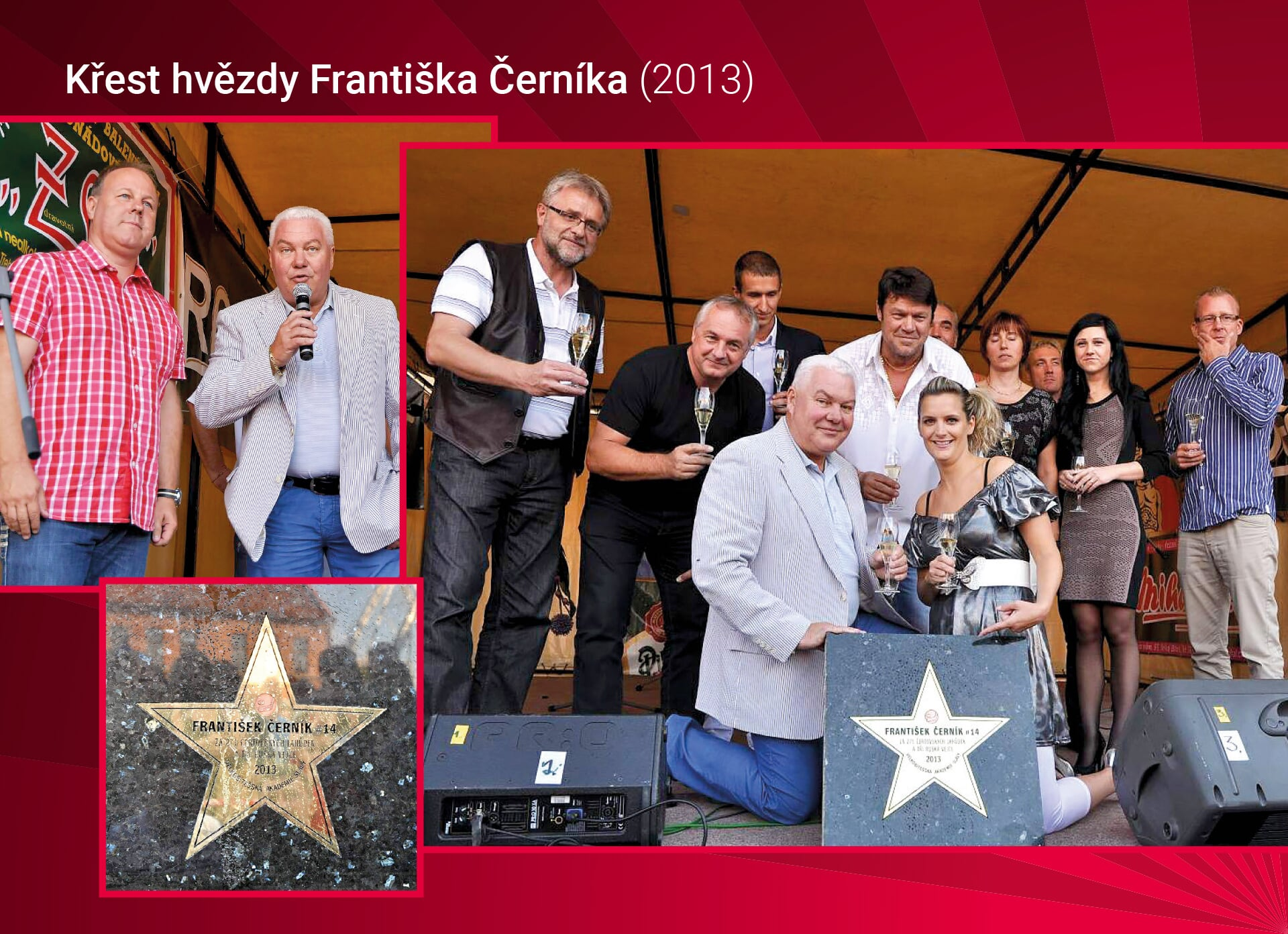 Křest hvězdy Františka Černíka