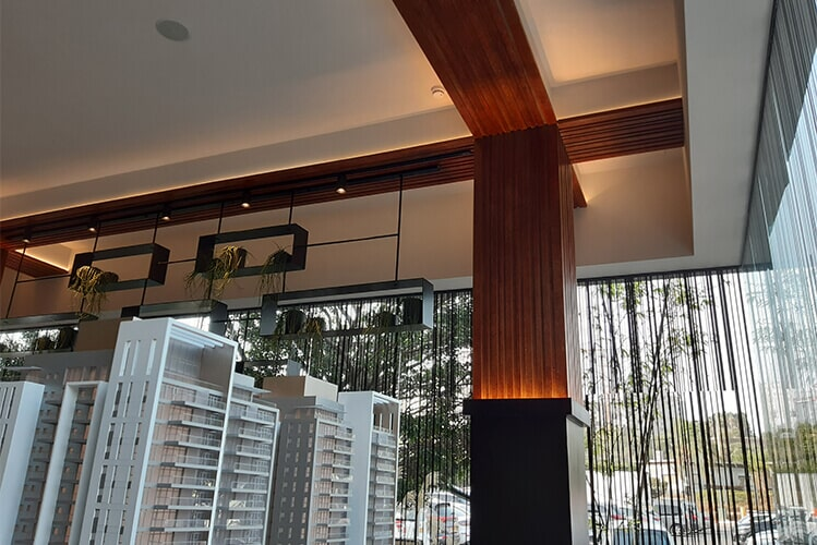 FAUX CORTEN PAINTING IN THE GINDI SALES CENTER