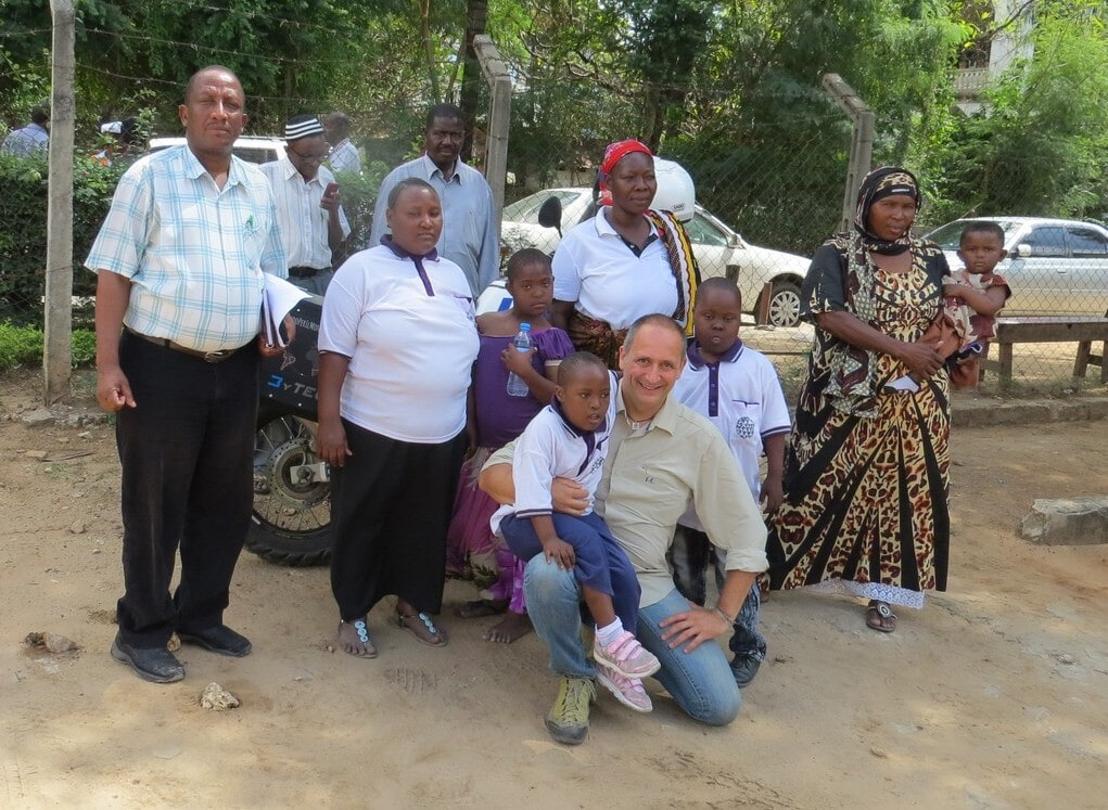 A visitor from Italy with DS children and parents. Far     left Mr Bruno Ghumpi, Coordinator PADSF