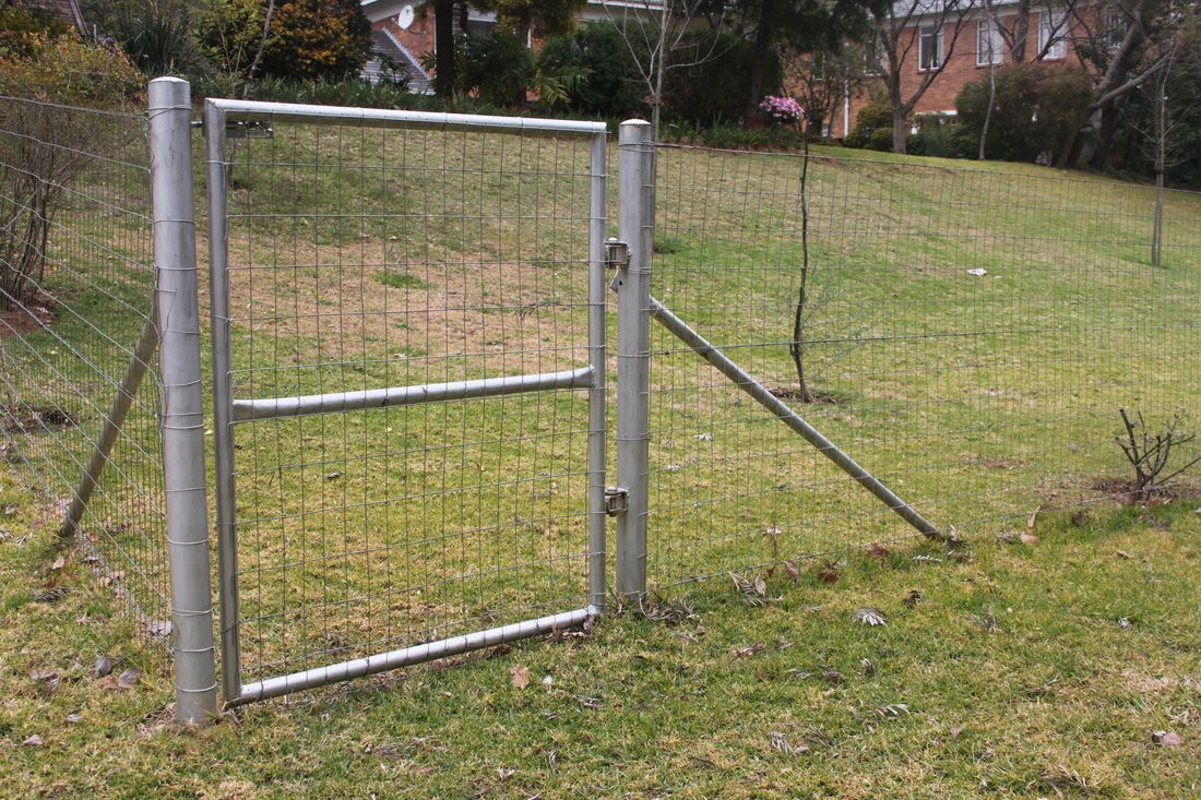 Single Pedestrian Weld Mesh Gate