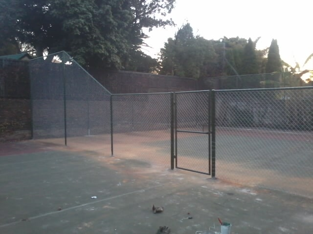 Tennis Court Diamond Mesh and Single Pedestrian Gate